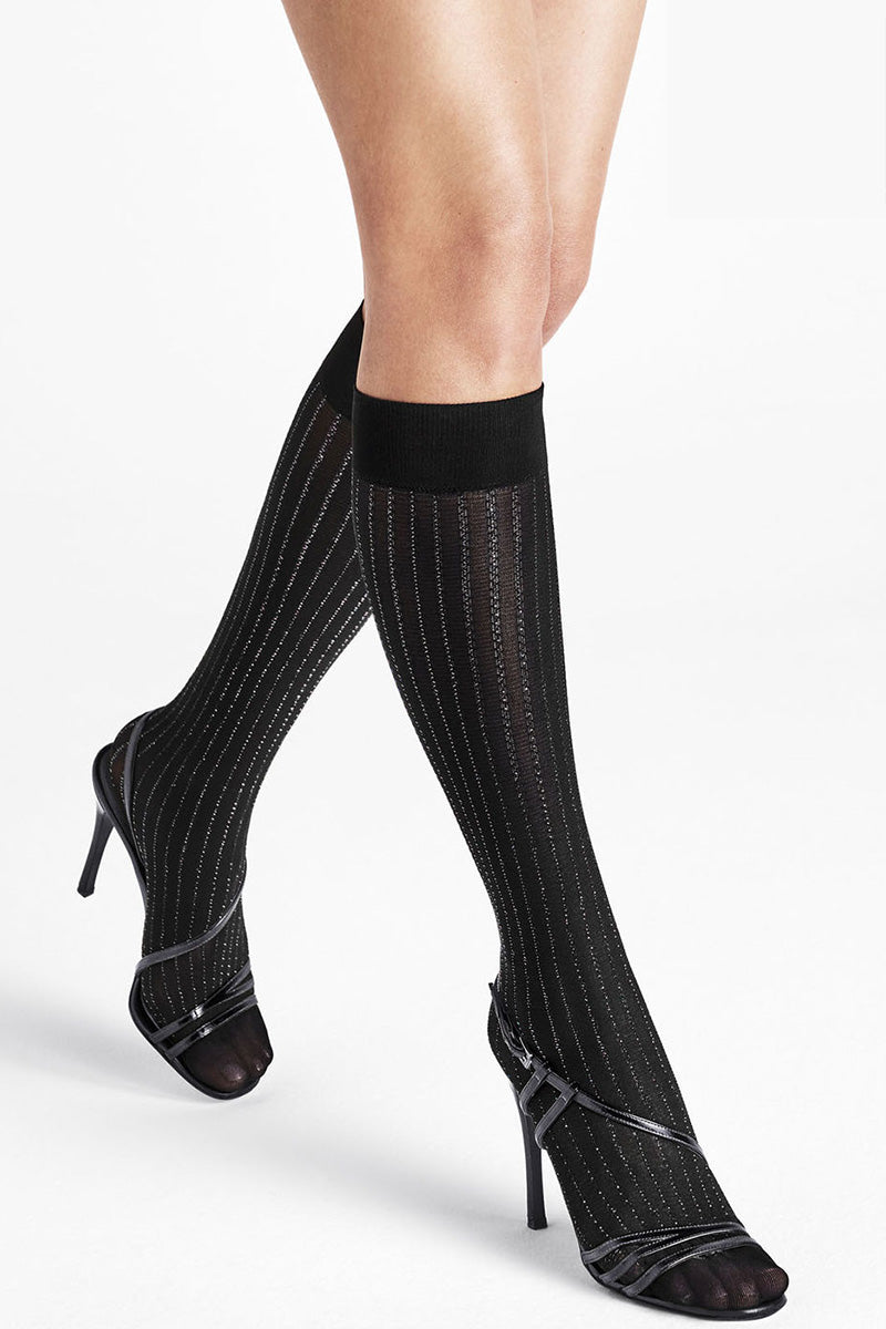 Wolford Sparkle Strip Knee-Highs