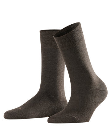 Falke Sensitive Berlin Ullsokker  + dark brown