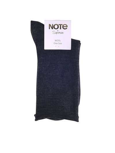 NOTE WOMAN WOOL ROLL TOP GREY MELANGE