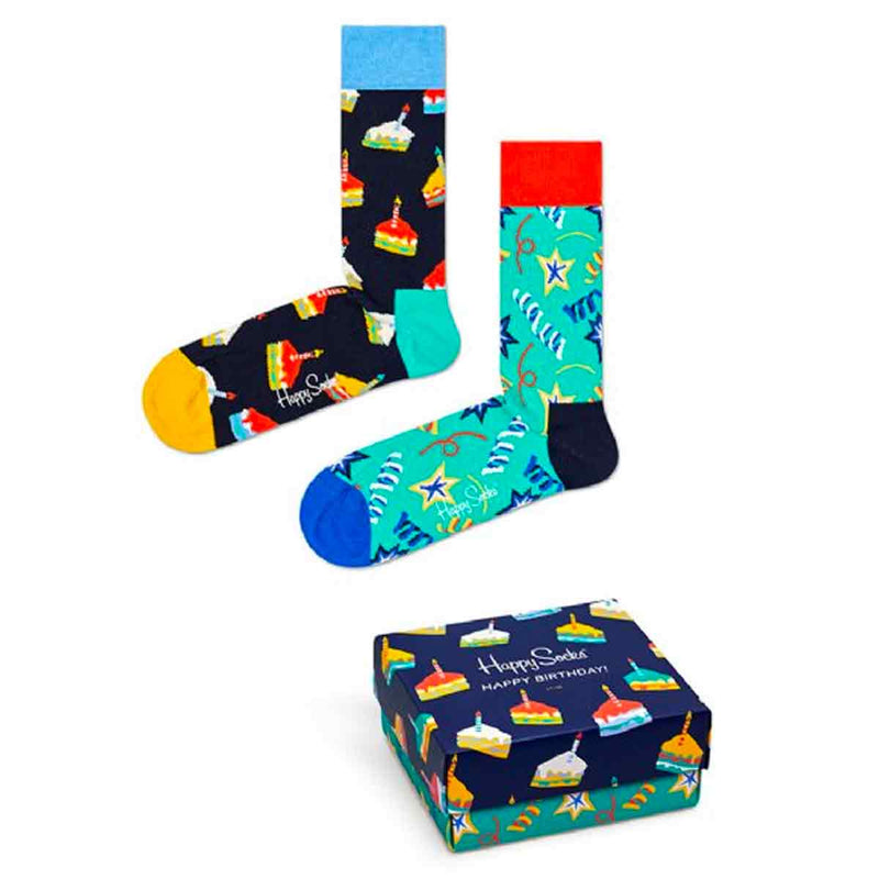 Happy Socks Gift Box 2-pack Happy Birthday