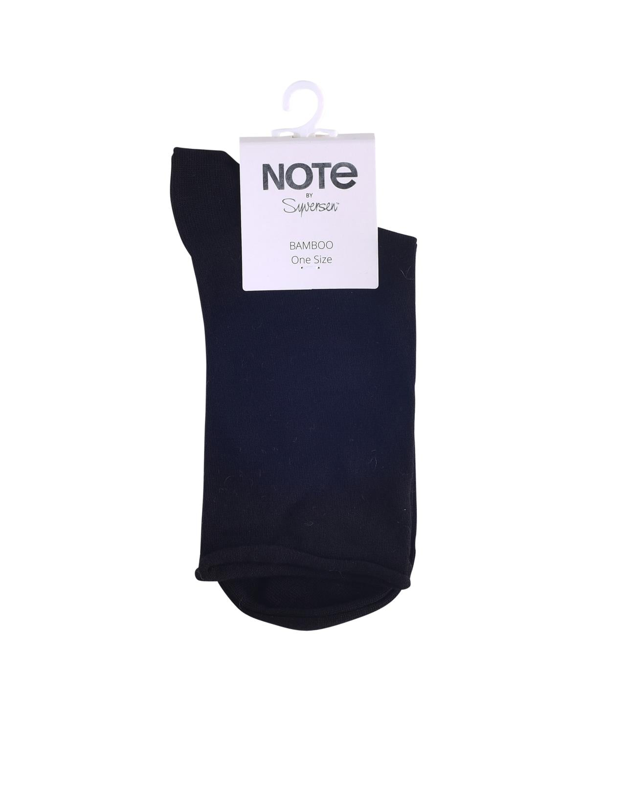 Note Woman Bamboo Roll Top sokker