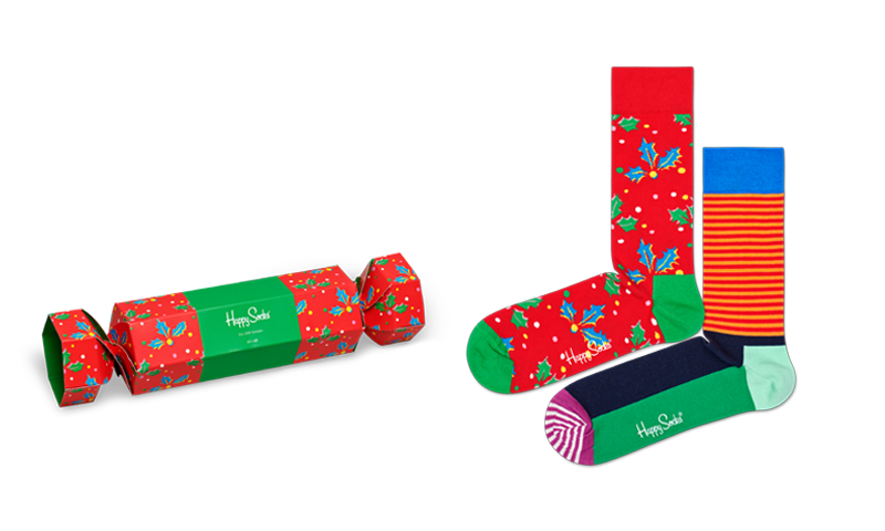 Happy Socks - CHRISTMAS CRACKER HOLLY GIFT BOX 2-pack