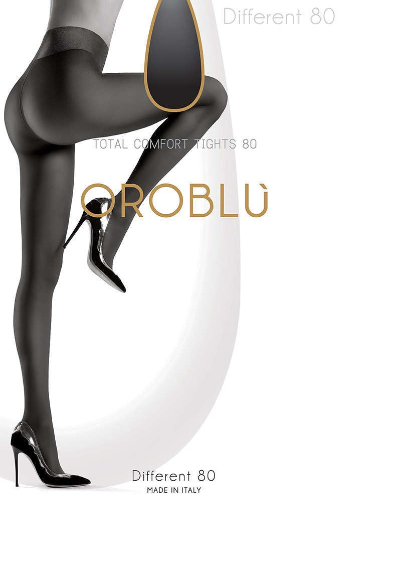 OROBLU Tights Different 80, Total comfort, ADMIRAL