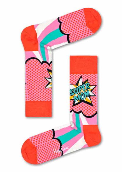 Happy Socks Super Mom sokker