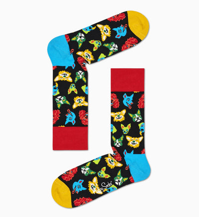 Happy Socks Funny Dog Sock in black color