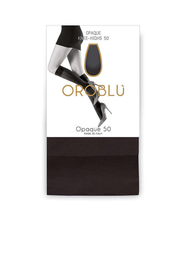 OROBLU Knee Highs Opaque 50, marineblå knestrømper