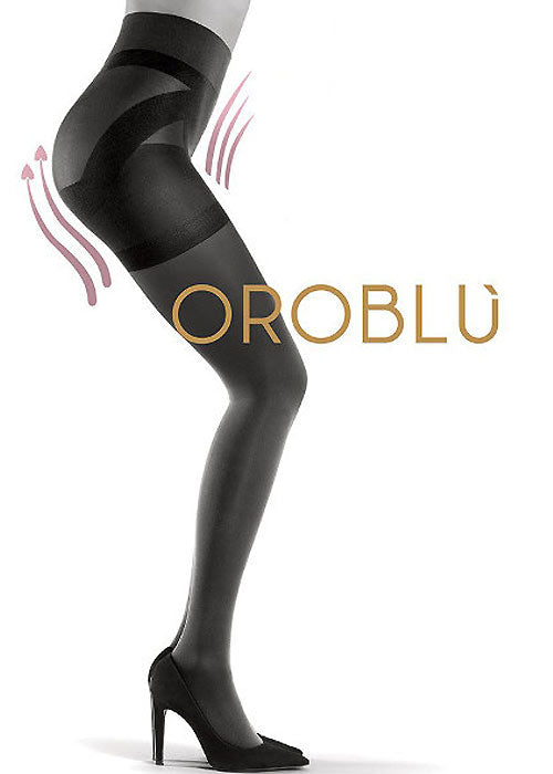 OROBLU Tights Shock Up 60 Bottom Up,  High Waist, BLACK