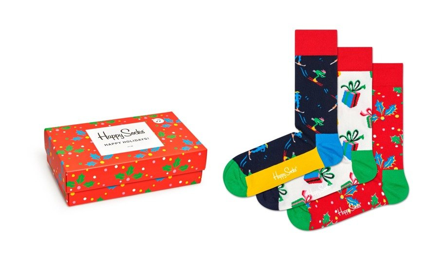 Happy socks , Singing Retro Holiday Gift Box