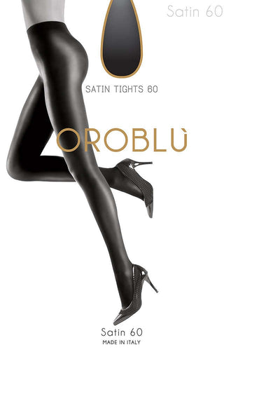 OROBLU Tights Satin 60 Opaque, BROWN 4