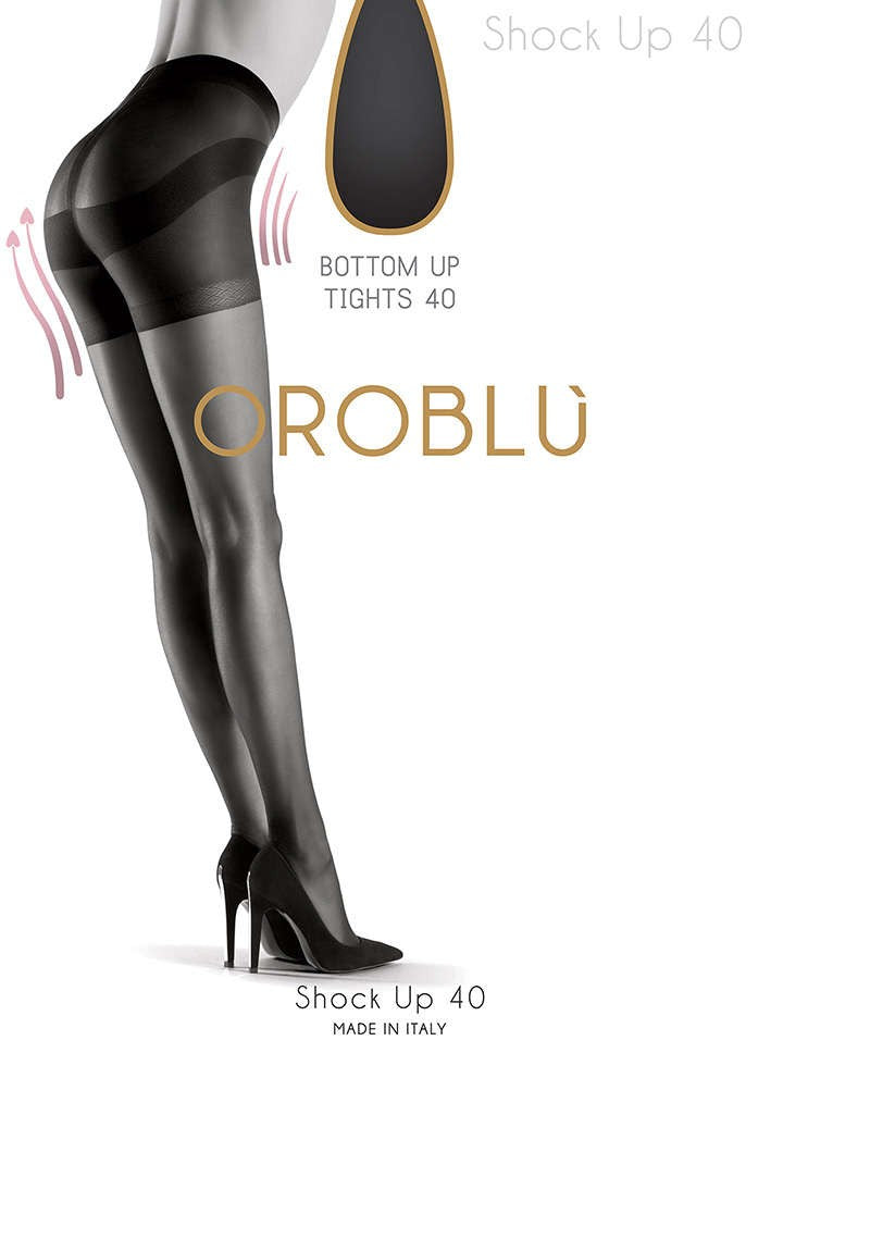 OROBLU Tights Shock Up 40 Bottom Up, BLACK