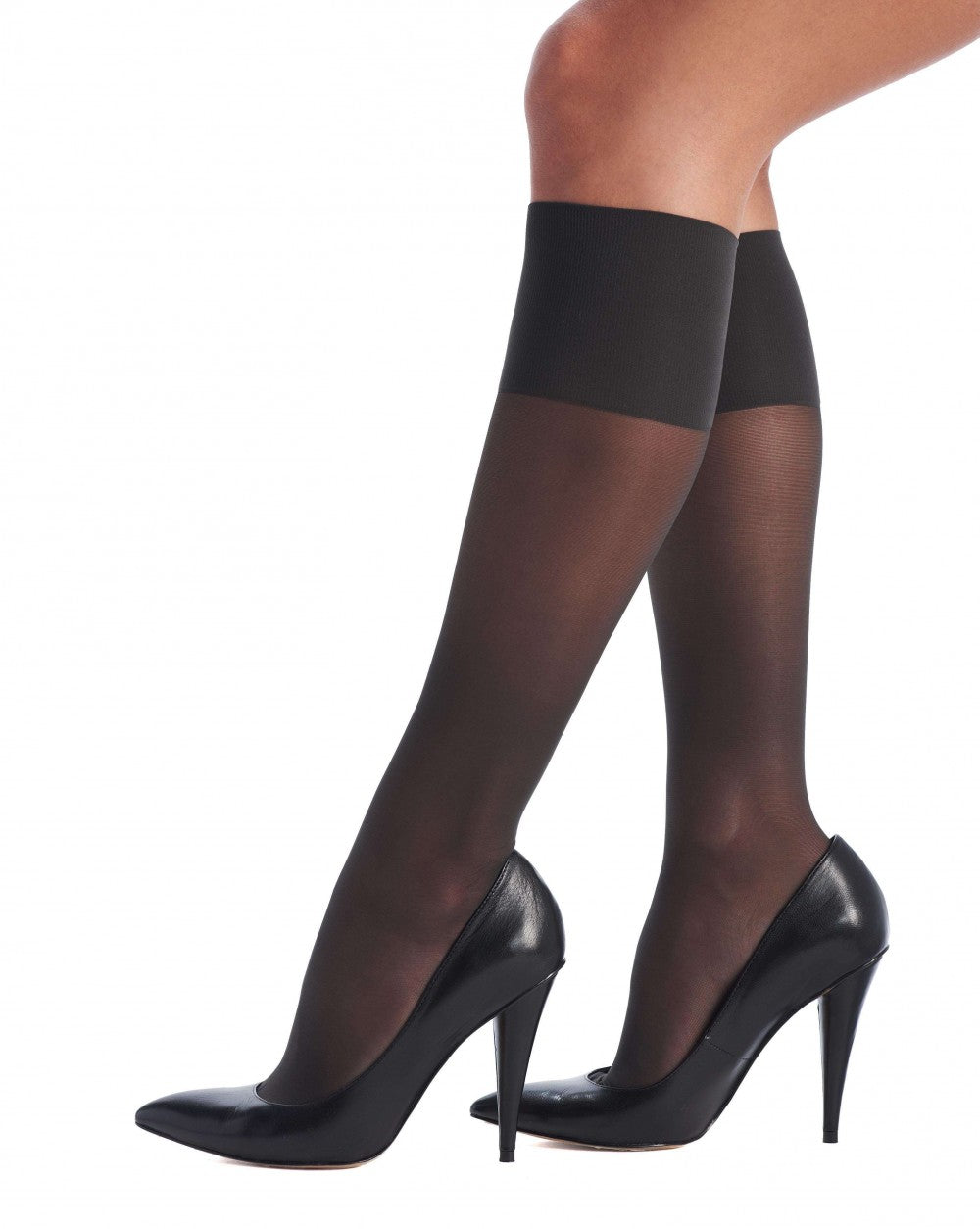 OROBLU Knee Highs Repos 70 Relax, Medium Compression, BLACK