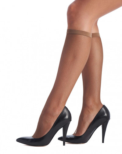 OROBLU Knee Highs Tricot Fashion, - Nettingstrømpe
