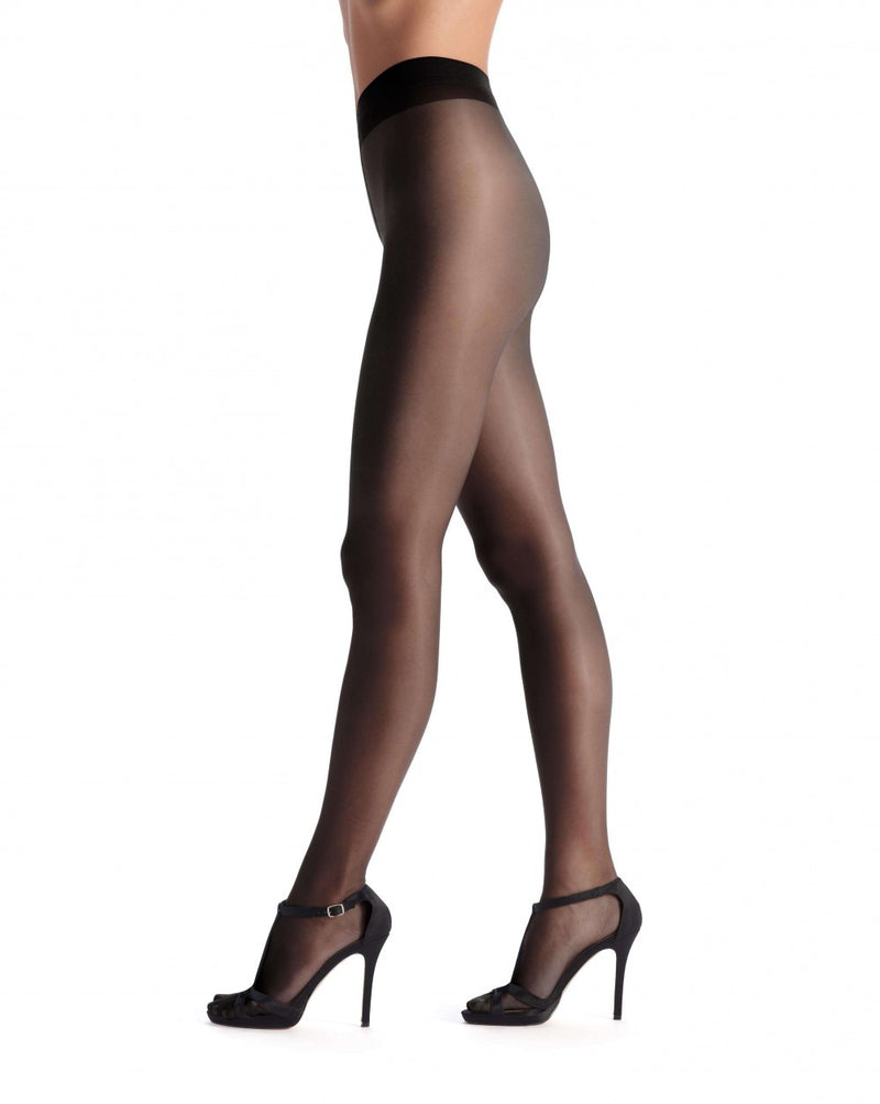 OROBLU Tights Pearl 15 Pure Beauty, Second Skin, BLACK
