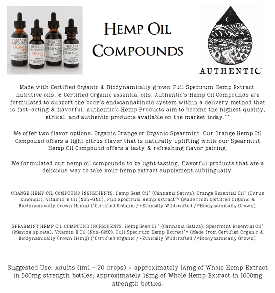 Authentic | Hemp Oil Compound - Orange