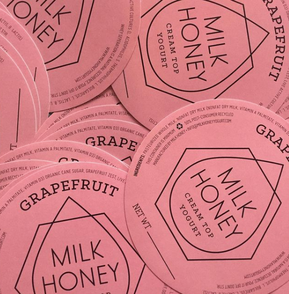 Milk Honey Yogurt | Grapefruit 16 oz.