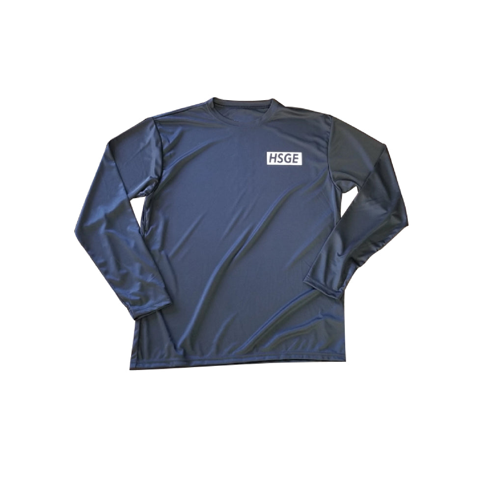 HSGE Athletic LS Black Tee
