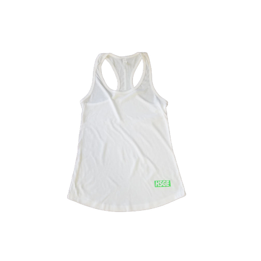 White Neon Athletic Tank