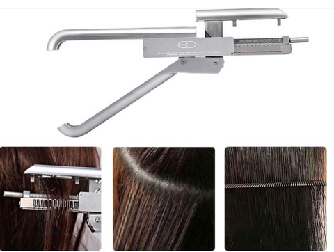 Silver 6 Dimension Hair Strand Tool Gun