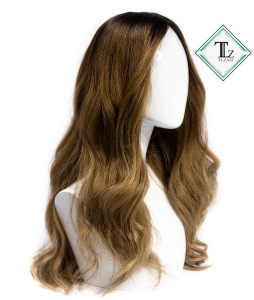 "Custom Dark Root Carmel Blond ""22"