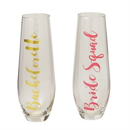 Stemless Champagne Bridal Flutes