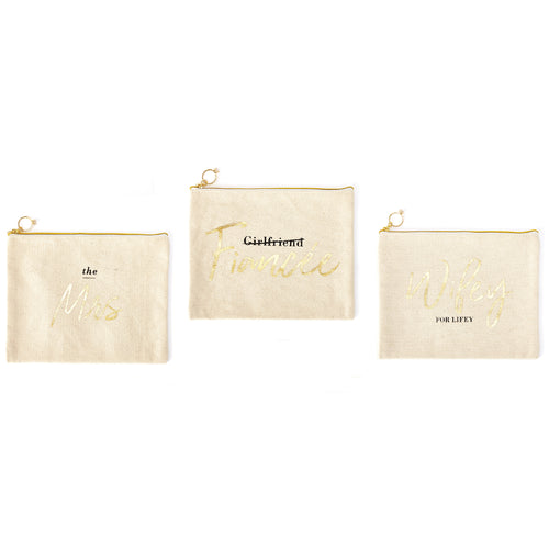 Multi Purpose Bride Carry All Canvas Pouch