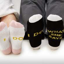 "Bride and Groom ""I Do"" Socks"