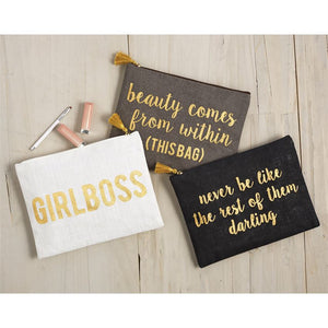 Inspirational Large Carry All Cosmetic Bags