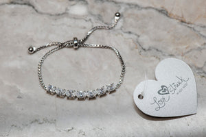 Lucy CZ Adjustable Bracelet