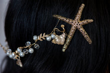 Gold Starfish and Pearl Head Piece.