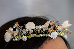Mermaid Shell and Pearl Head Piece