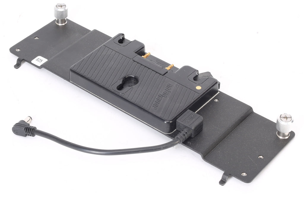 Litepanels Battery Plate | Anton Bauer Gold Mount Battery Plate with Power Cable For Astra 1x1 LED Light Panel