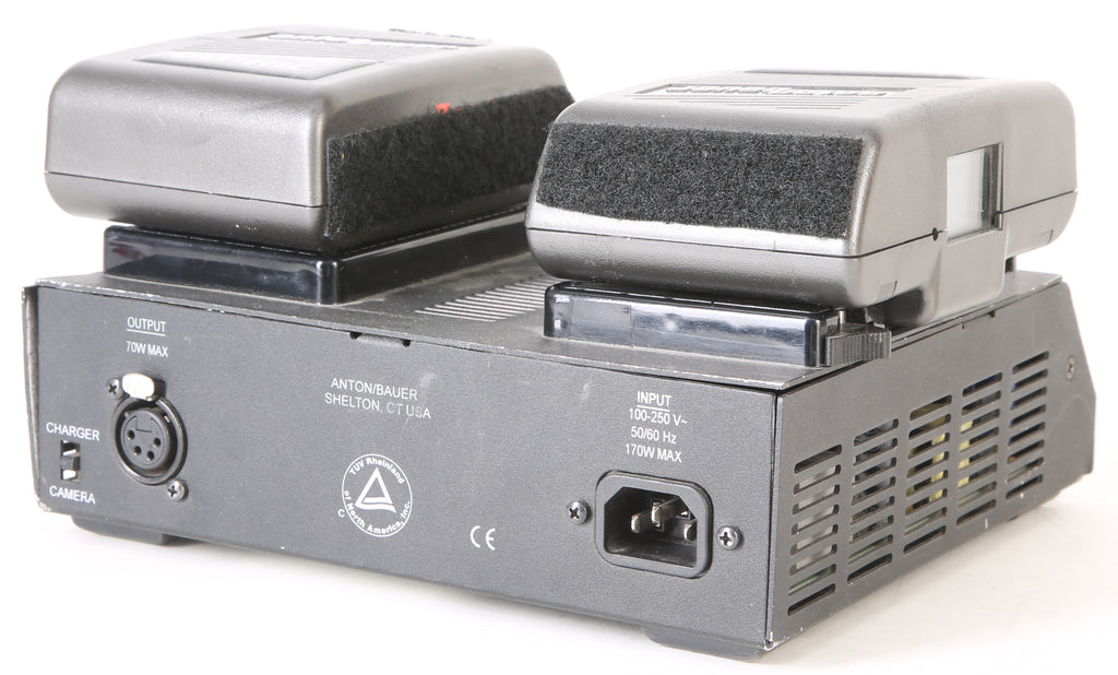 Anton Bauer Gold Mount Dual Simultaneous Charger & Batteries for Cinema Cameras