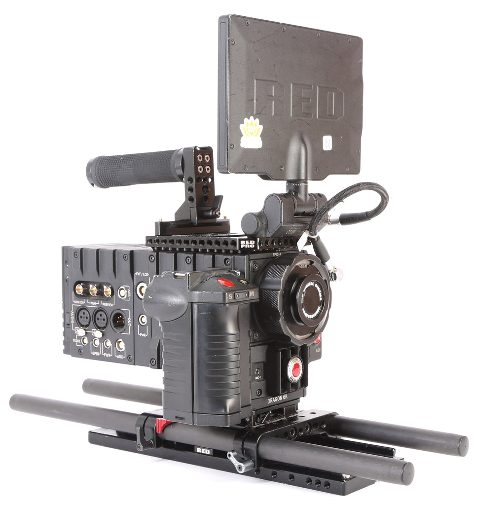 "Red Digital Cinema DSMC EPIC X Dragon Camera Bundle. With Media, PRO I/0 Module, 7"" Touch LCD Monitor, Redvolts, and More"