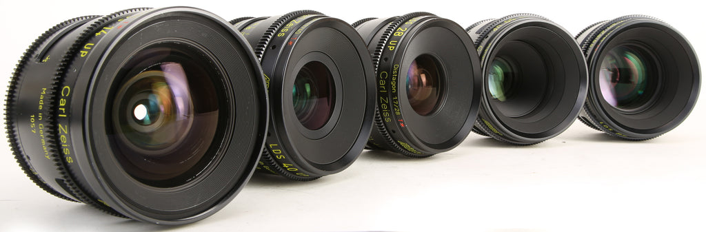 ARRI LDS Ultra Prime Carl Zeiss Distagon Cine PL Mount (5) Prime Lens Set (Lens Data System). 14mm, 28mm, 40mm, 50mm, 85mm