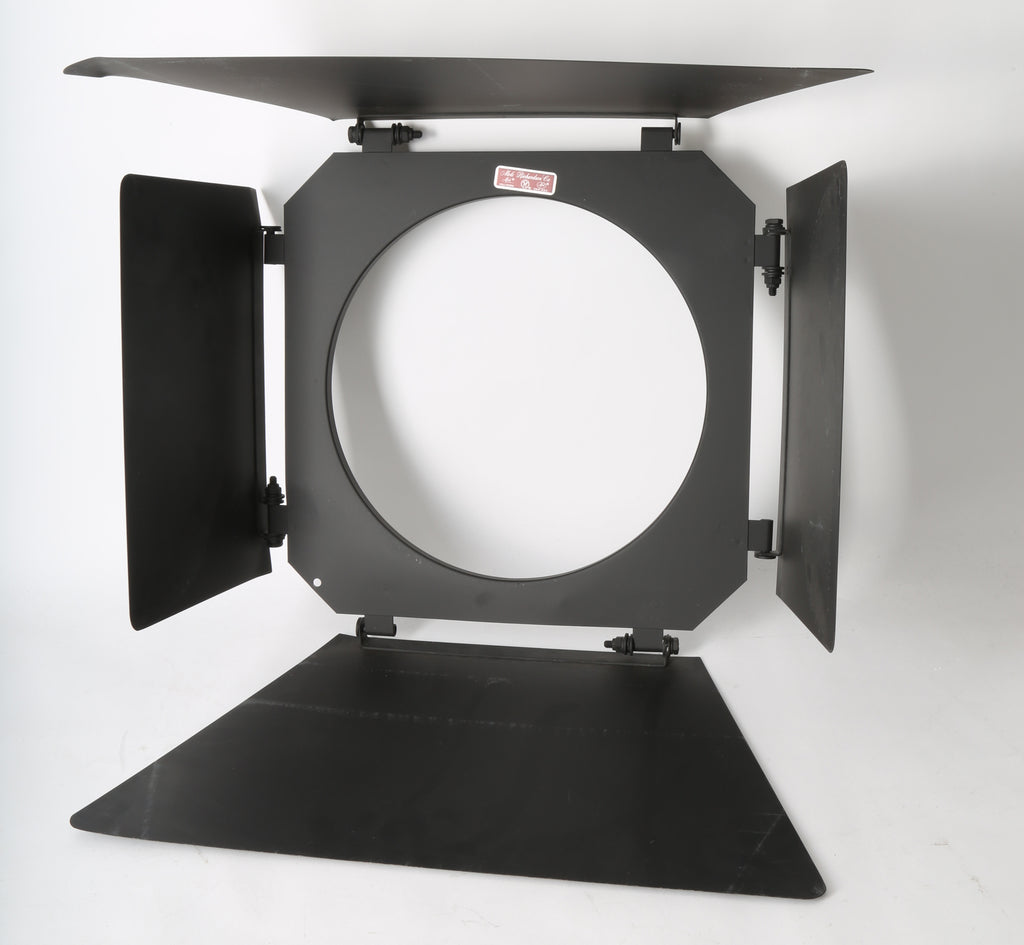 "Mole Richardson 4 Leaf 12"" Diameter Barndoors. For Tungsten & HMI Lighting Heads."