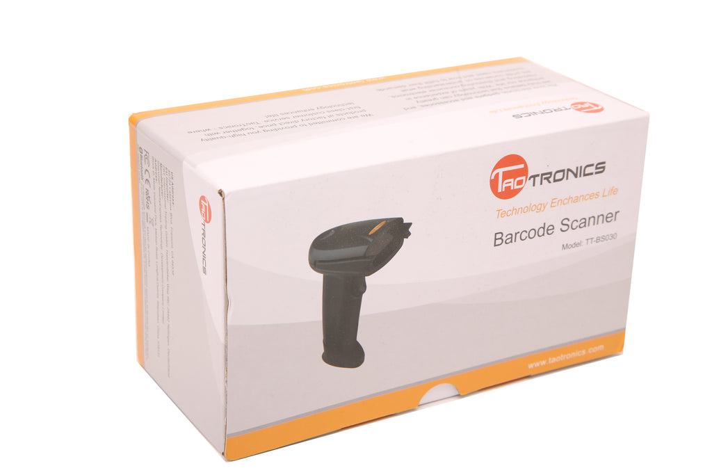 TaoTronics 2 in 1 Bluetooth Wired Barcode Scanner USB Portable Bar Code Scanner with 32-bit Processor,16MB Large Internal Storage,750mAh Battery Compatible with Common System