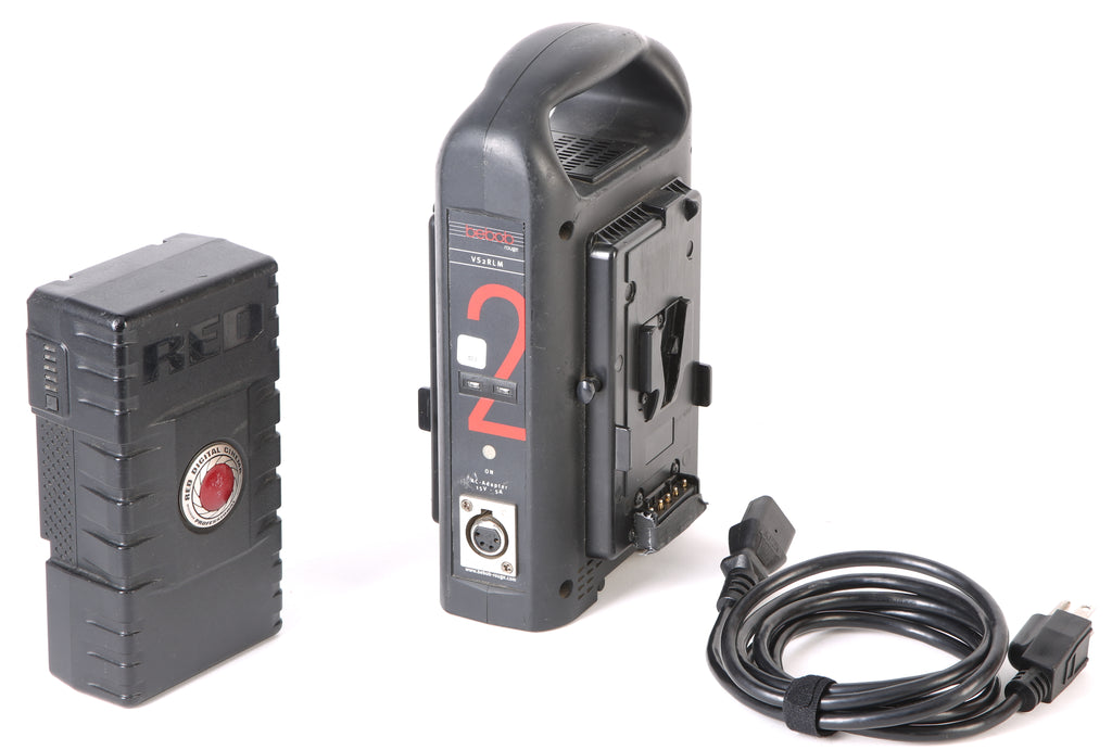 Bebob Rouge VS2RLM V-Mount Dual Charger With Red V-Mount RED Battery