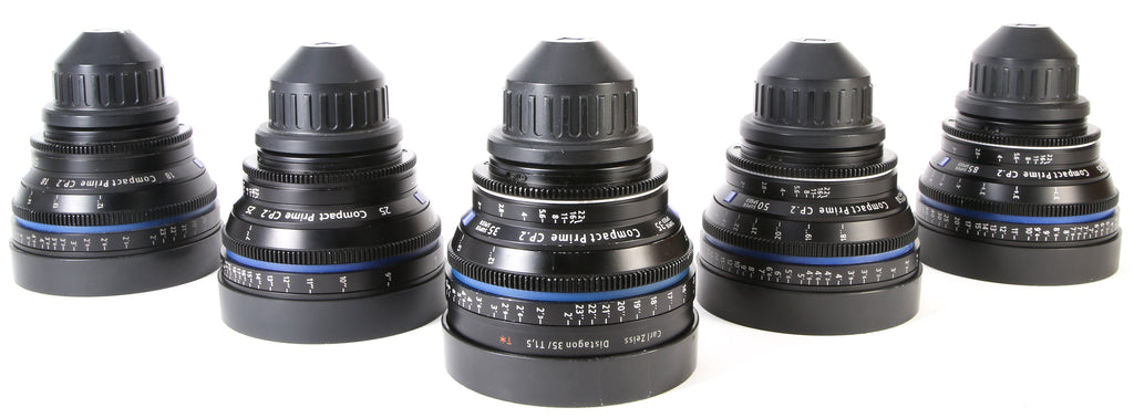 Zeiss CP.2 Super Speed Cine 5 Lens PL Mount Kit (18mm T3.6, 25mm T2.9, 35mm T1.5, 50mm T1.5, 85mm T1.5)