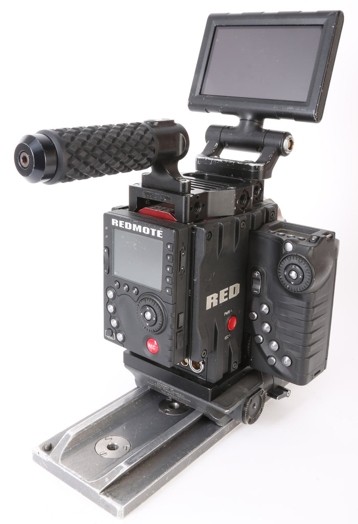"Red Digital Cinema DSMC EPIC X Dragon Camera Bundle. With Media, 5"" Touch LCD Monitor, Side Handle, and More"