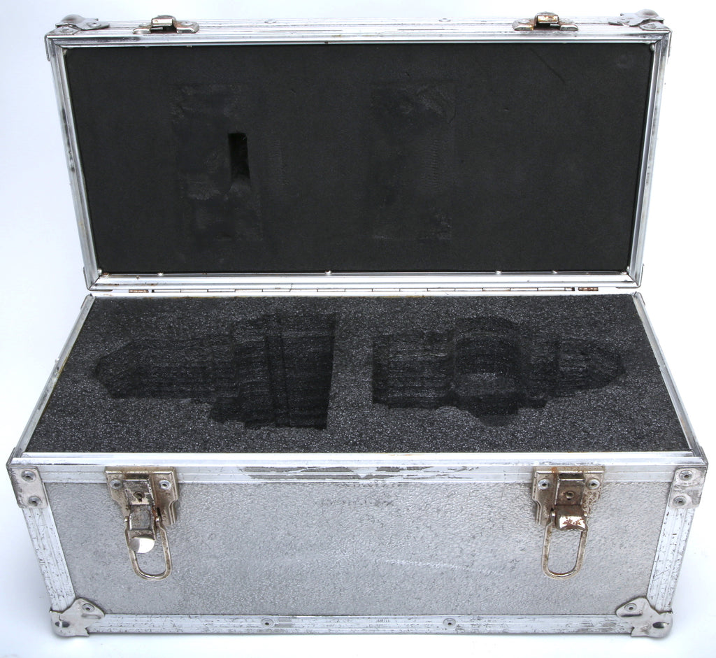 "Silver (2) Lens Hard Travel Case With Molded Foam Insert (Black - Exterior Dimensions: 20""x9""x10"")"
