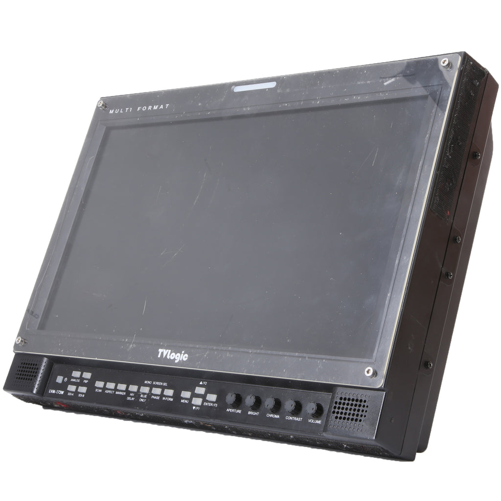 "TVLogic LMV-173W-3G 17"" Multi-Format Broadcast 3G LCD HD Production Monitor. 1366X768 Resolution"