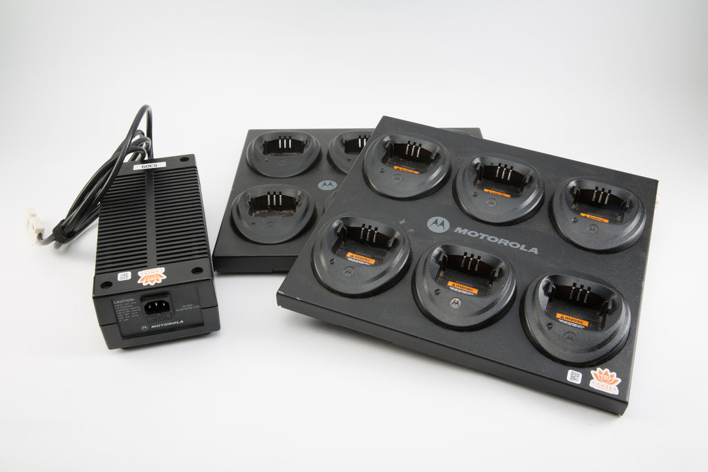 (2) Motorola WPLN4171A 6 Bay Charging Stations For CP Walkies