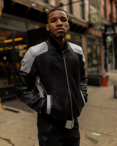 MEN LIGHT WEIGHT JACKET- BLACK AND WHITE