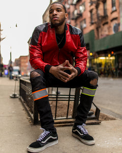 MEN LIGHT WEIGHT JACKET- RED AND BLACK