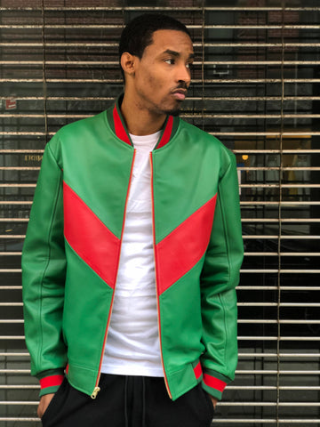 MEN LIGHT WEIGHT JACKET- GREEN AND RED