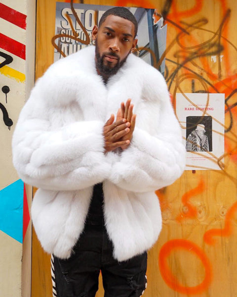 MEN -  WHITE FOX FUR BOMBER