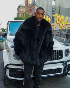 MEN -  BLACK FOX FUR BOMBER