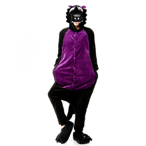 DinoBuddiez™ Adult Size Purple/Black Dinosaur Costume Onesie Pajamas