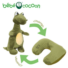 Convertible Dinosaur Stuffed Animal & Neck Pillow 2-in-1