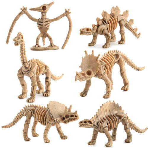 12pc Educational Dinosaur Fossil Skeleton Simulation Set